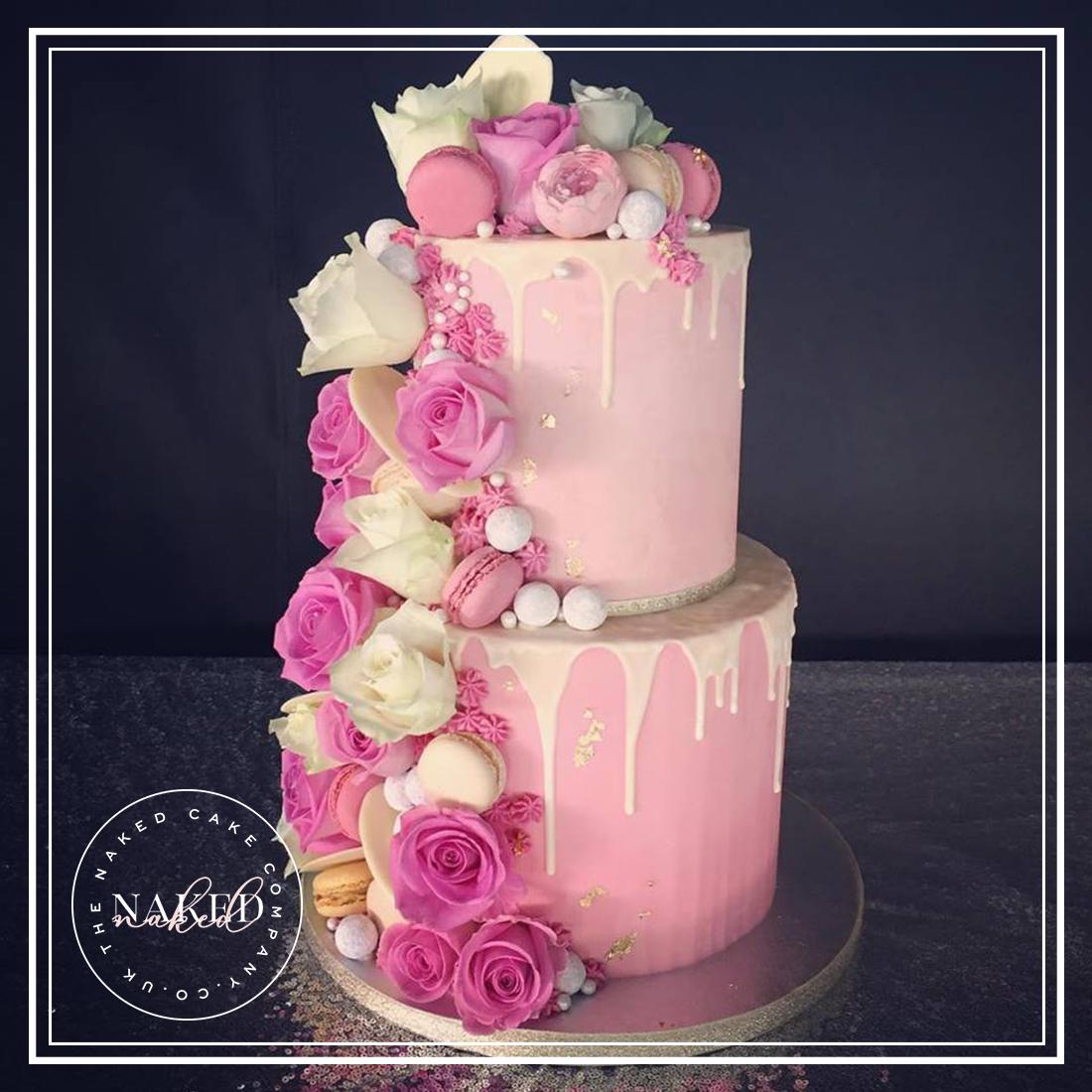 Fully Iced Pink Chocolate Ganache Cake
