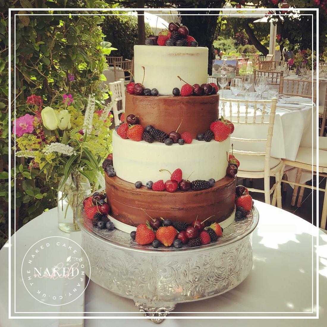 Semi-Naked Summer Berry Cake