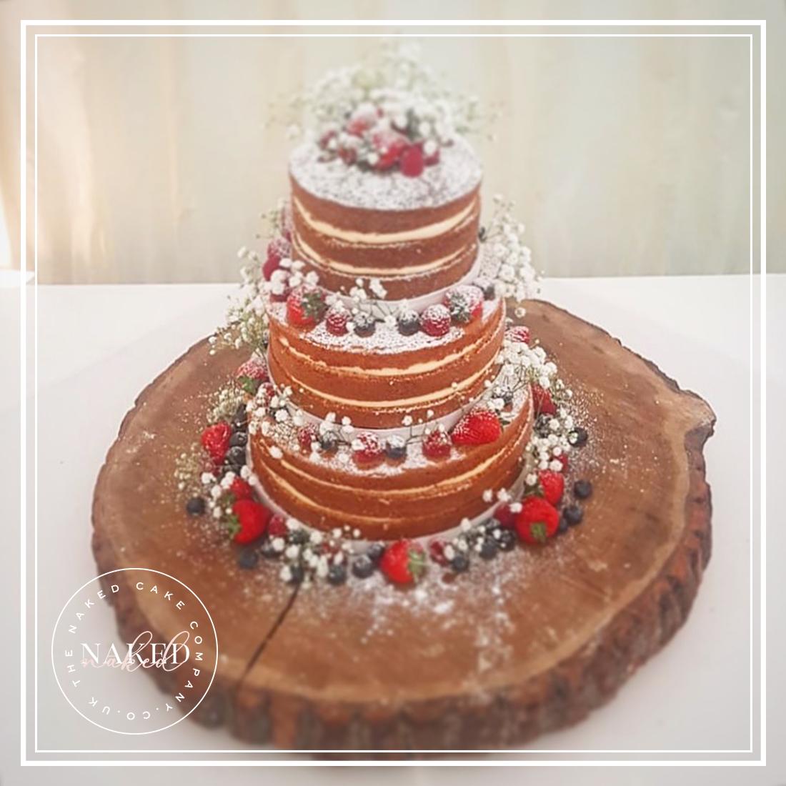 Summer Berry Naked Wedding Cake