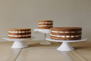 3 Naked Cakes on Stands