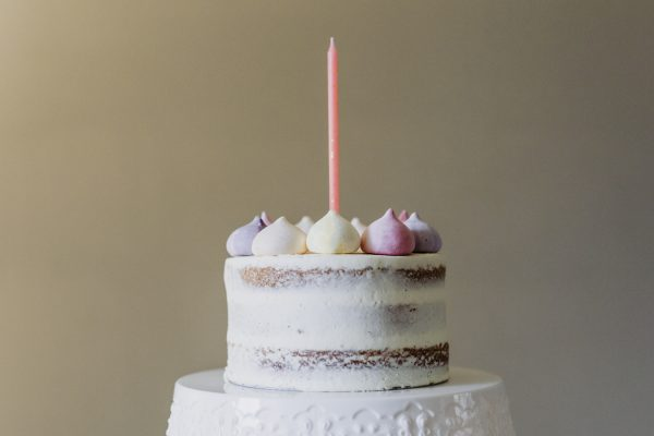 Rainbow Meringue Naked Cake